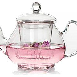 Moyishi-Clear-Glass-Borosilicate-Glass-Teapot-Tea-Set-Infuser-for-loose-tea-or-display-tea400ml-0-2