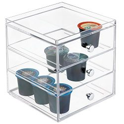 mDesign-Single-Serve-Coffee-Pod-Holder-for-Kitchen-Pantry-Countertops-Holds-27-Capsules-Clear-0-2